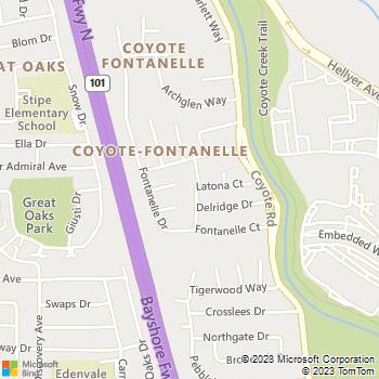 Map - Four Seasons Construction - 5101 Epping Lane - San Jose, CA, 95111
