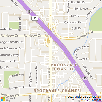 Map - West Valley Pet Clinic - 1360 South De Anza Boulevard - San Jose, CA, 95129