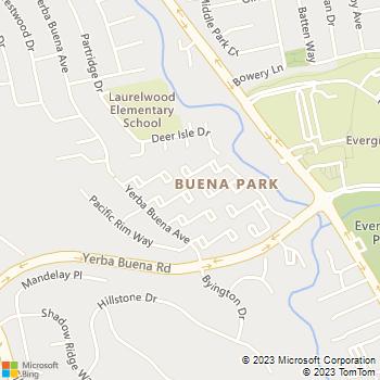Map - C H Hardwood Floors - 2597 YERBA BANK COURT - San Jose, CA, 95121