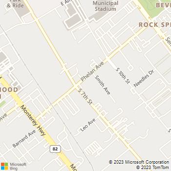 Map - Allstar Plumbing - 326 Phelan Avenue, Unit A - San Jose, CA, 95112