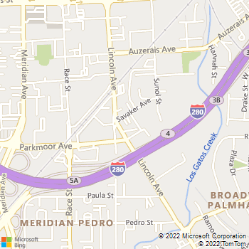 Map - Arroyo Plumbing - 650 Lincoln Avenue, Suite D - San Jose, CA, 95126