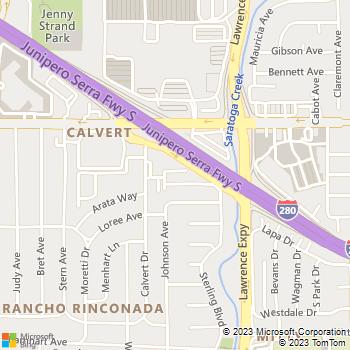 Map - Shadow Oaks - 202 Calvert Drive - Cupertino, CA, 95014