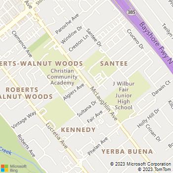 Map - Pops Painting - 1144 Algiers Avenue - San Jose, CA, 95122