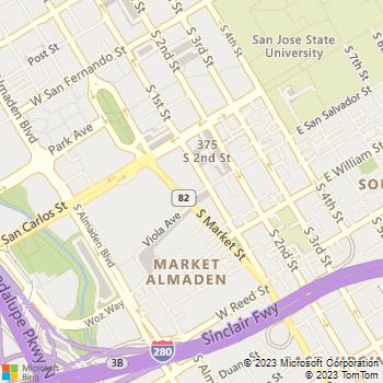 Map - 360 Residences - 360 South Market Street - San Jose, CA, 95113