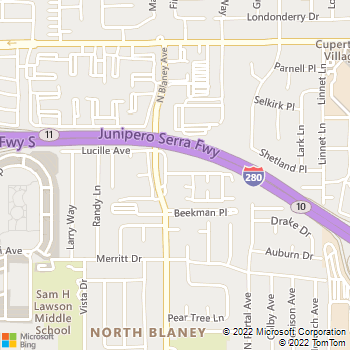 Map - The Pointe At Cupertino - 19920 Olivewood St - Cupertino, CA, 95014