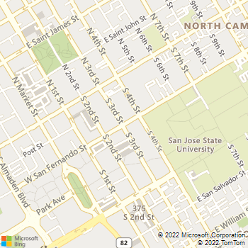 Map - 101 San Fernando - 101 E San Fernando St Ste 100 - San Jose, CA, 95112