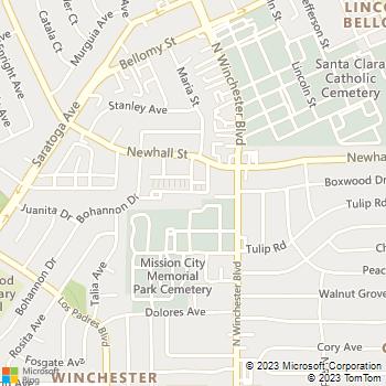 Map - Le Parc - 440 N Winchester Blvd - Santa Clara, CA, 95050