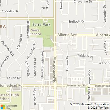 Map - Premium Locksmiths - 1603 Hollenbeck Avenue - Sunnyvale, CA, 94087