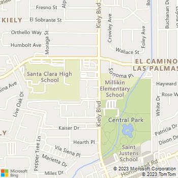 Map - 1000 Kiely - 1000 Kiely Blvd - Santa Clara, CA, 95051