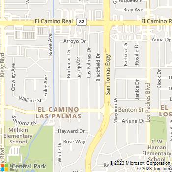 Map - Green Gardener - 1224 Las Palmas Drive - Santa Clara, CA, 95051