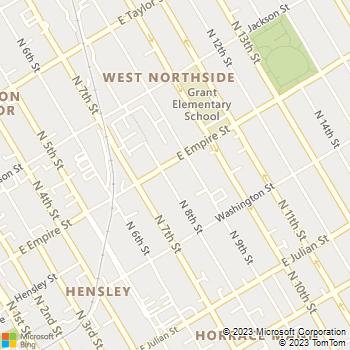 Map - BWC Electric - 486 North 8th Street - San Jose, CA, 95112