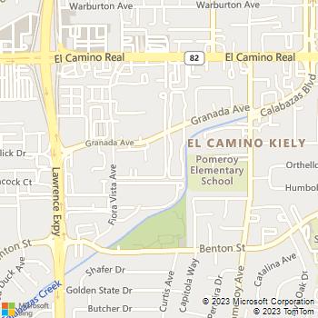 Map - Marina Cove - 3480 Granada Ave - Santa Clara, CA, 95051