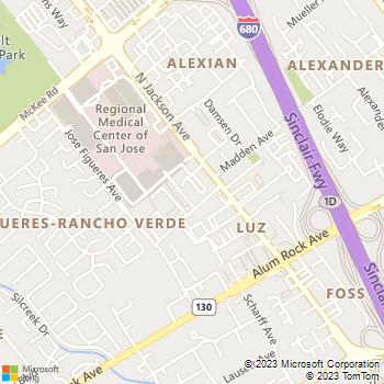 Map - San Jose Physical Therapy - 125 N Jackson Ave # 201 - San Jose, CA, 95116