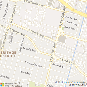 Map - Heritage Park - 555 E Washington Ave - Sunnyvale, CA, 94086