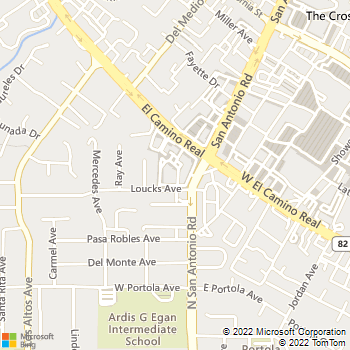 Map - Excel Construction & - 4546 El Camino Real, Suite 250 - Los Altos, CA, 94022