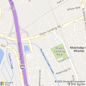 Map - Mill Creek - 440 Dixon Landing Rd - Milpitas, CA, 95035