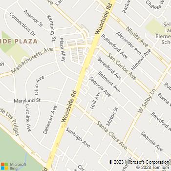Map - Woodside Veterinary Clinic - 1725 Woodside Rd #F - Redwood City, CA, 94061