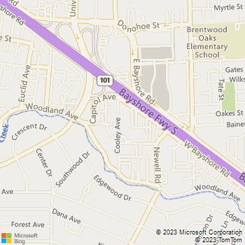 Map - Woodland Park - 1 Newell Ct - Palo Alto, CA, 94303