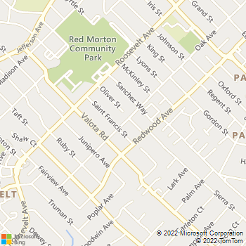 Map - Positeri Painting - 1548 Oak Avenue - Redwood City, CA, 94061