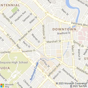 Map - Aladdin Bail Bonds - 710 Winslow Street - Redwood City, CA, 94063