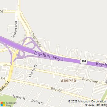 Map - Public Storage - 1841 E Bayshore Road - Redwood City, CA, 94063