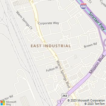 Map - Fremont Animal Hospital - 45962 Warm Springs Blvd - Fremont, CA, 94539