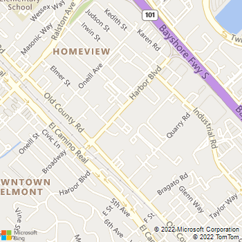Map - Belmont Pet Hospital - 539 Harbor Blvd - Belmont, CA, 94002