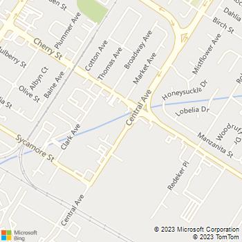 Map - ACC Auto Collision Center - 6565 Central Avenue - Newark, CA, 94560