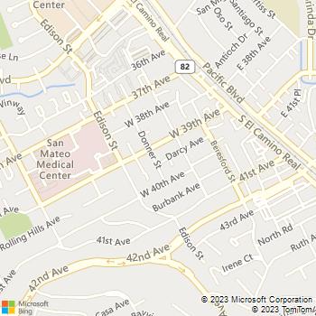 Map - NOR CAL Coatings - 3917 Donner Street - San Mateo, CA, 94403