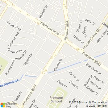 Map - Stevenson Place - 4141 Stevenson Blvd - Fremont, CA, 94538
