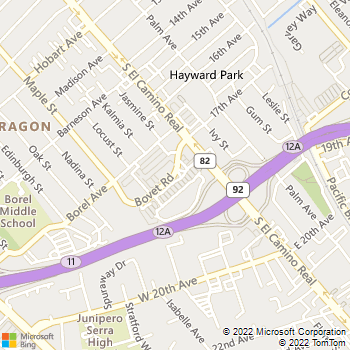 Map - Mike Counsil Electric - 63 Bovet Rd - San Mateo, CA, 94402