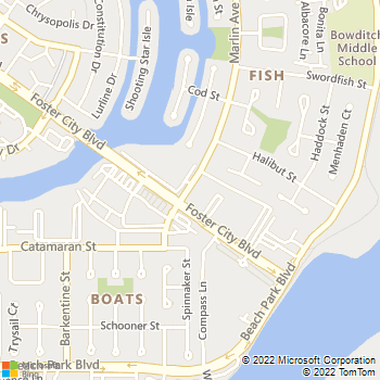 Map - eaves Foster City - 700 Marlin Avenue - San Mateo, CA, 94404