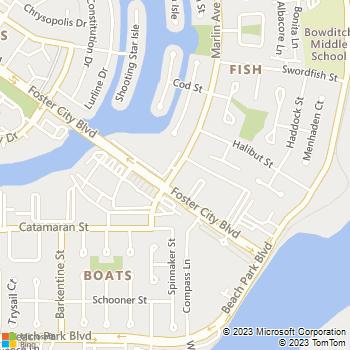 Map - eaves Foster City - 700 Marlin Avenue - San Mateo, CA, 94404
