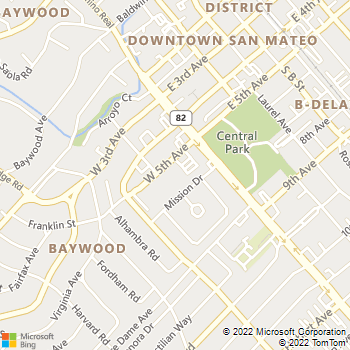 Map - 55 West Fifth Apartments - 55 W 5th Ave - San Mateo, CA, 94402