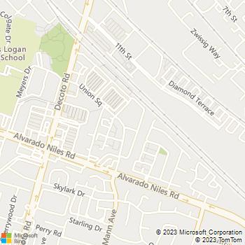 Map - Avalon Union City - 24 Union Square - Union City, CA, 94587