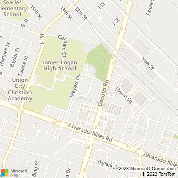 Map - Parkside - 1501 Decoto Rd - Union City, CA, 94587