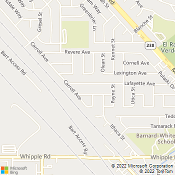 Map - A Plumbing Hero - 113 Lafayette Avenue - Hayward, CA, 94544