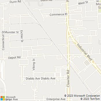 Map - Automobile Collision Center - 3125 Depot Road - Hayward, CA, 94545