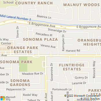 Map - Affordable Home Repair - 1409 Cordero Court - Modesto, CA, 95355