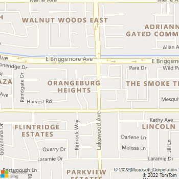 Map - Meadow Lakes - 1401 Lakewood Ave - Modesto, CA, 95355