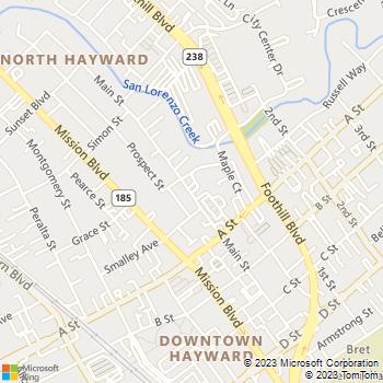 Map - Everest College - 22336 Main Street - Hayward, CA, 94541