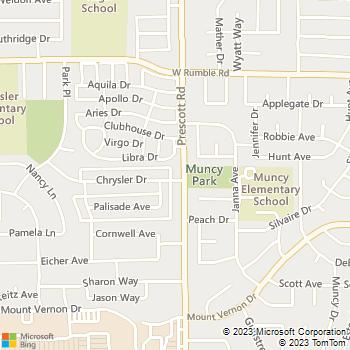 Map - Whispering Woods - 2501 Prescott Rd - Modesto, CA, 95350