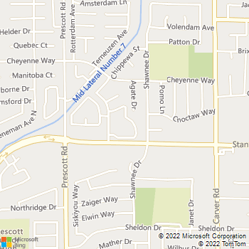 Map - Carmel Woods Apartments - 3500 San Clemente Ave - Modesto, CA, 95356