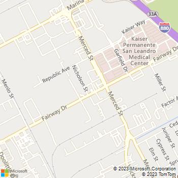 Map - A B C Construction - 1925 Fairway Drive - San Leandro, CA, 94577