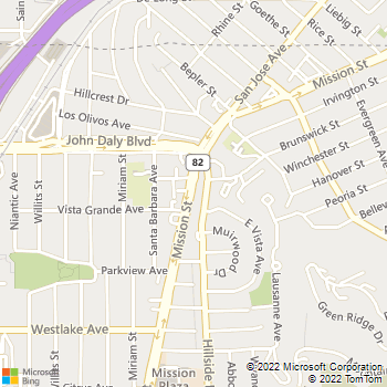 Map - 88 Hillside - 6543 Mission Boulevard - Daly City, CA, 94014