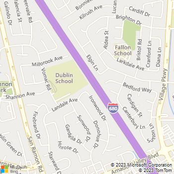 Map - Carlo A. Cantori Tile - 7859 Ironwood Drive - Dublin, CA, 94568