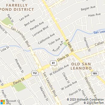 Map - GB Construction - 386 Arroyo Avenue - San Leandro, CA, 94577