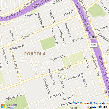 Map - Robles General Repairs - 261 Holyoke Street - San Francisco, CA, 94134