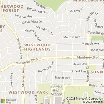 Map - Mediterrasian Landscapes - 827 Joost Avenue - San Francisco, CA, 94127