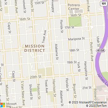 Map - VCA San Francisco Vet - 600 Alabama St - San Francisco, CA, 94110